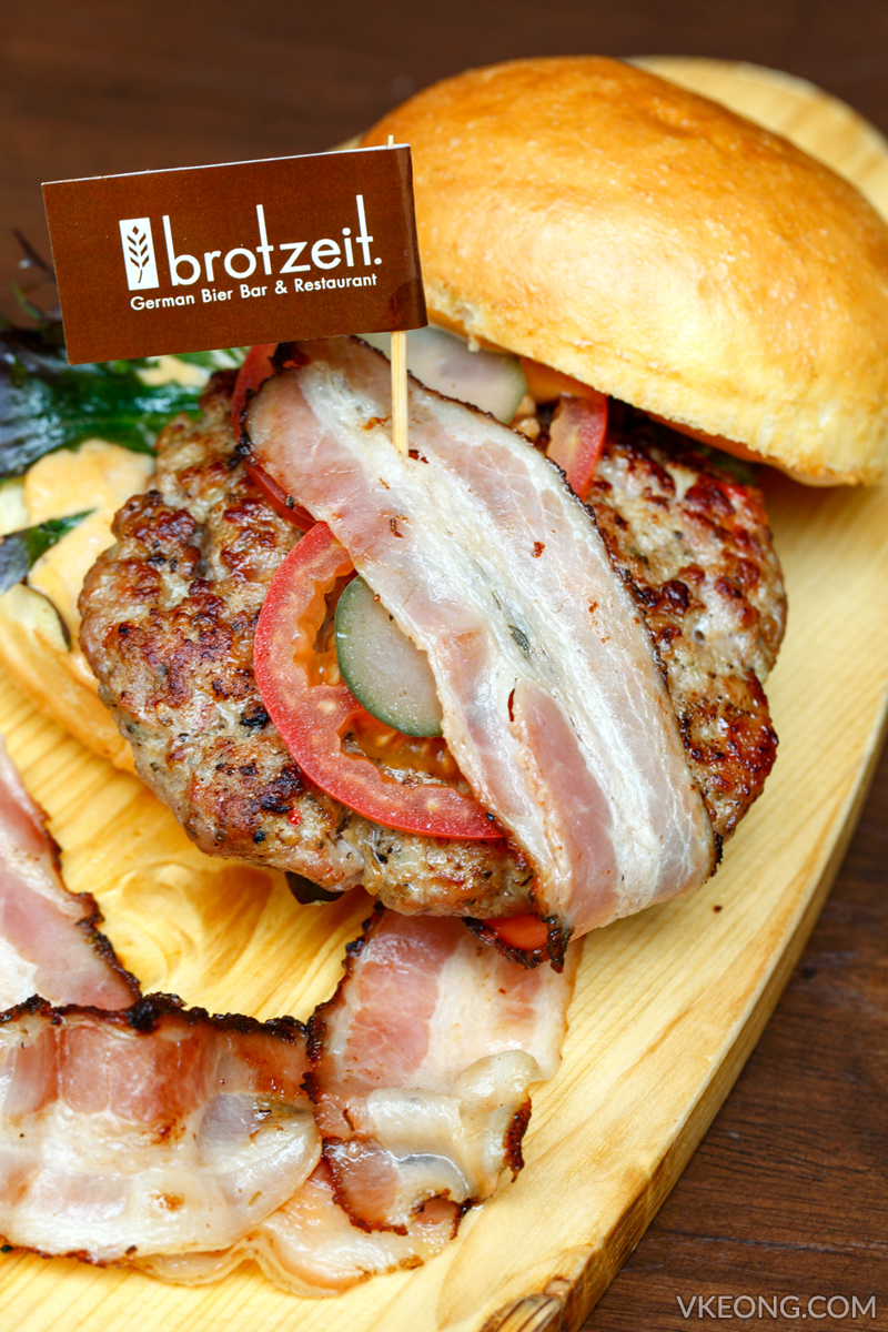 Brotzeit Pork and Bacon Burger