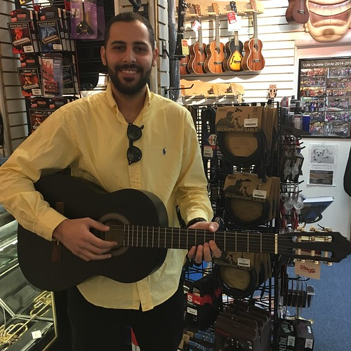 Shadi and his new classical guitar