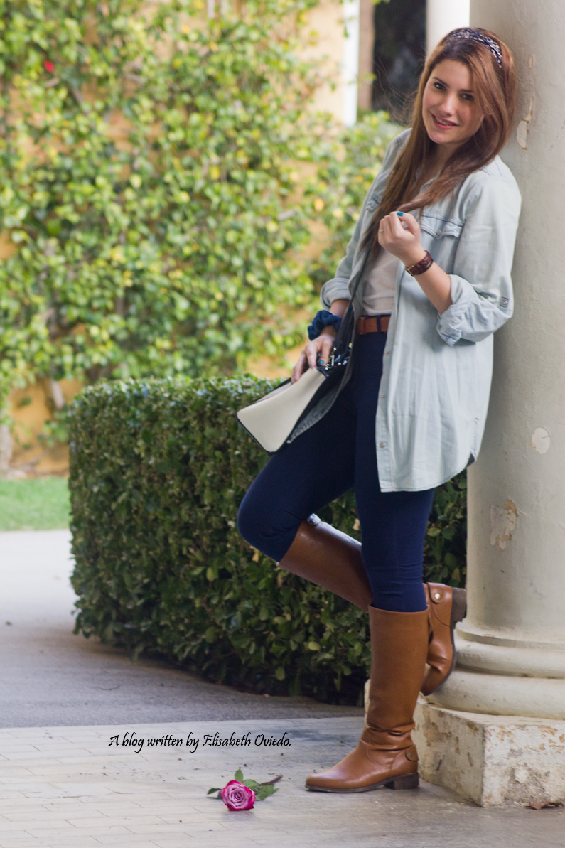 jeans look primavera heelsandroses botas marrones bolso grande (3)