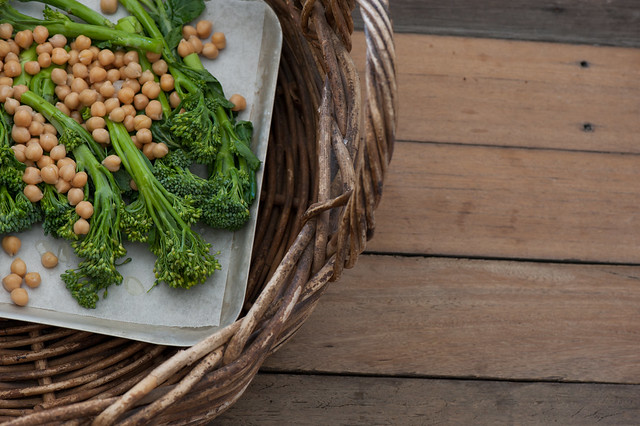 Crispy Broccolini & Chickpeas with Cashew 'Ricotta'-2