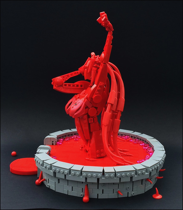 fountain of blood in the shape of a girl 1