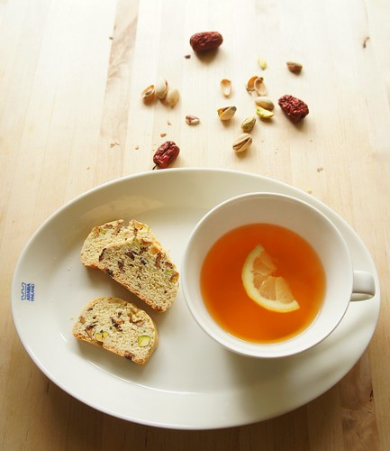 Biscotti with Korean Jujube and Pistachio 28 | by bellacorea