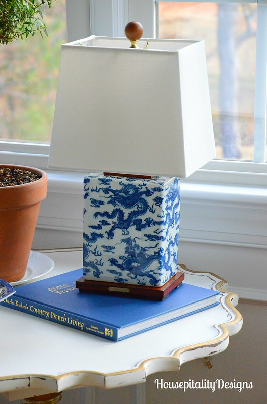 Blue and White Lauren Lamp-Housepitality Designs