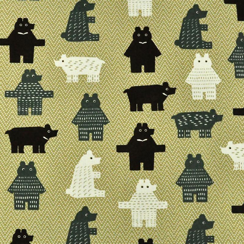 可爱方块熊 (大特价) 可爱动物 手工艺diy拼布布料 cf