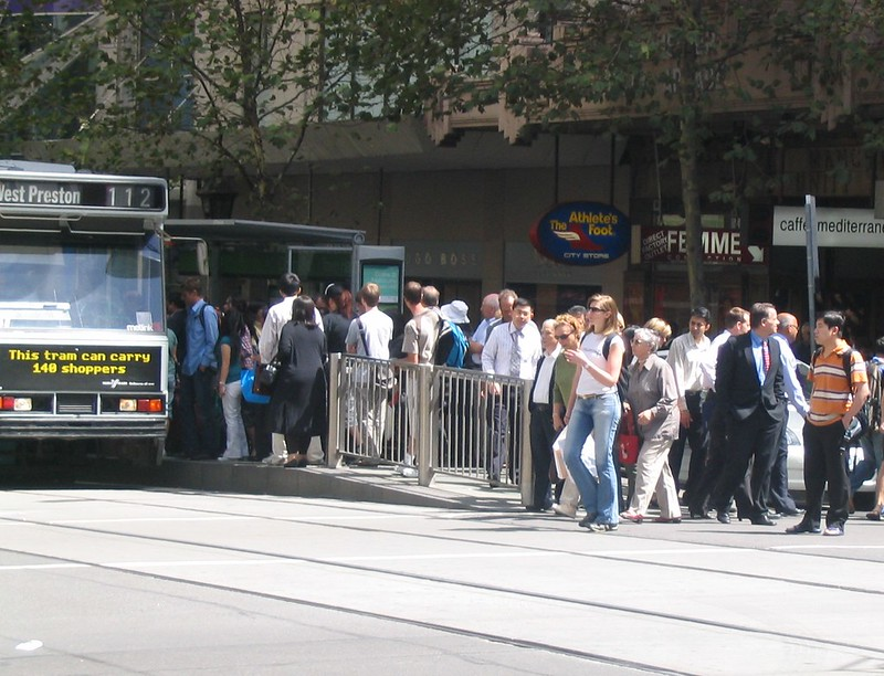 Collins Street/Town Hall tram stop (March 2007)