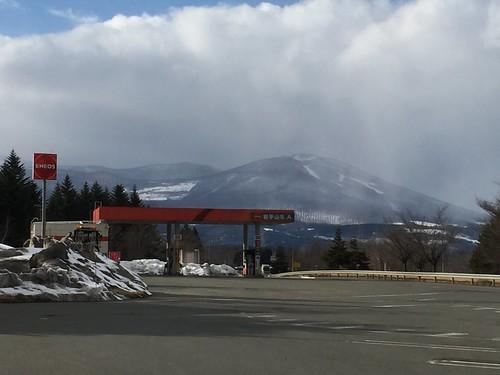 岩手山SA(下り)から見た岩手山