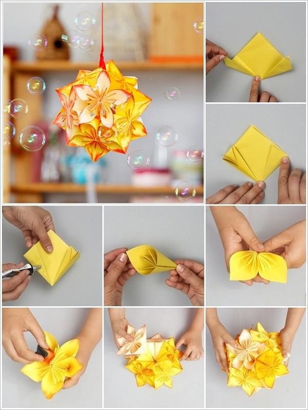 Decor Craft Origami Flower Tutorial Via Thecraftideas N Flickr
