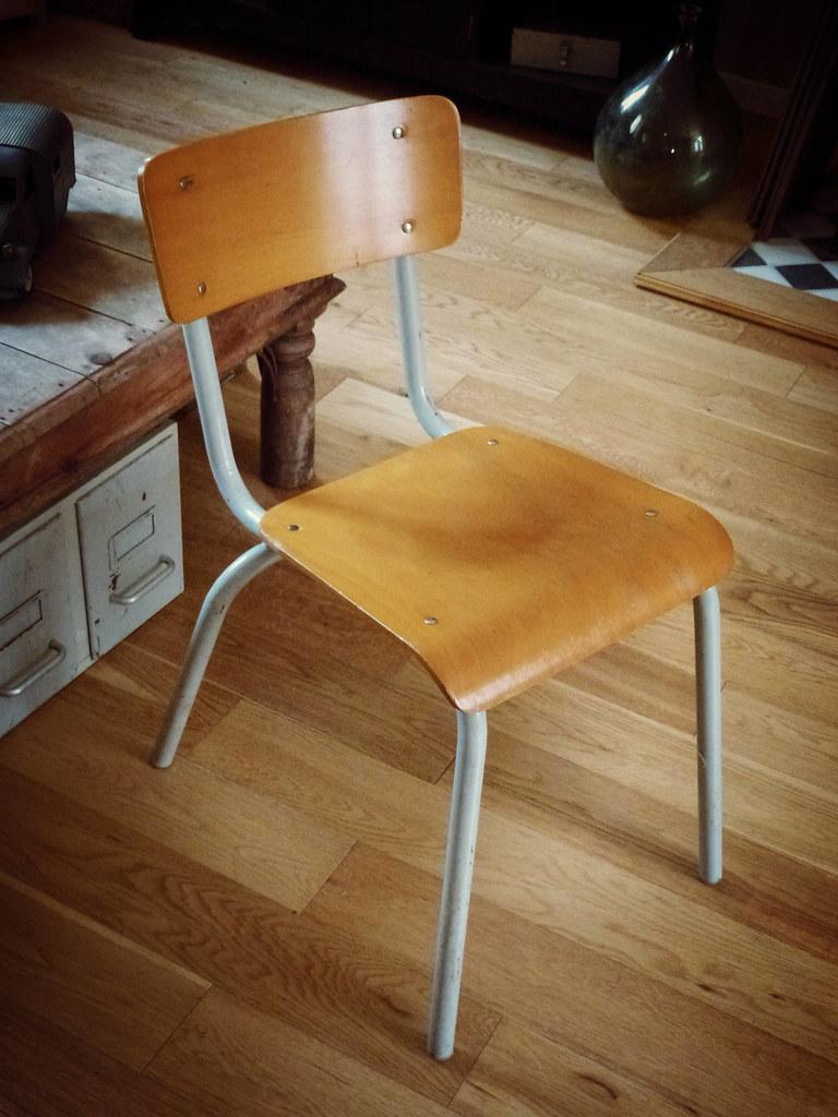 Chaise D École Mullca ancienne chaise d'école vintage mullca 511 | l