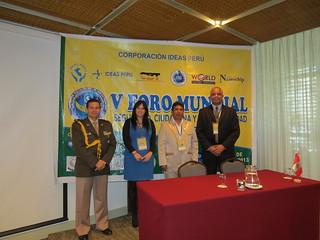 """Propuestas y Acuerdos - V FORO MUNDIAL """"Seguridad Ciudadana y Gobernabilidad""""-LIMA PERU, 3er dia"""
