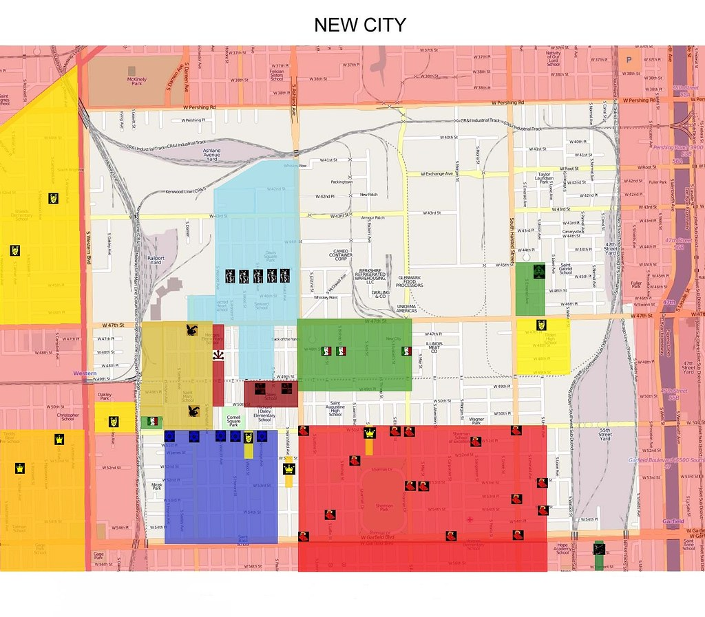 Updated New City Gang Map | Map of New City, Chicago | Flickr