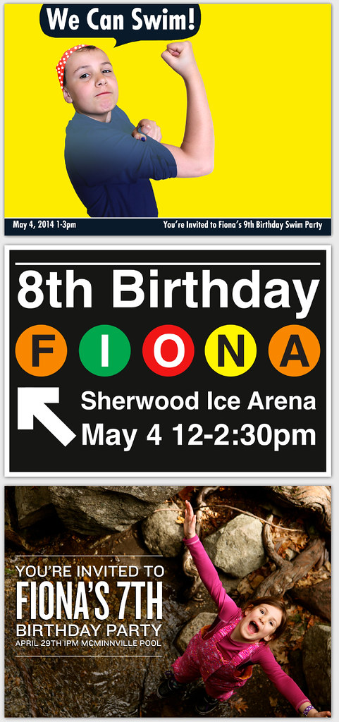 Fionas Birthday Party Invites 7 9th Birthdays
