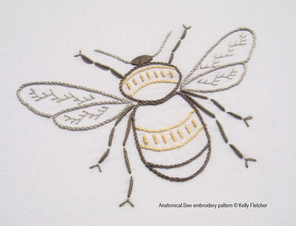 Anatomical Bee Hand Embroidery Pattern By Kelly Fletcher N Flickr