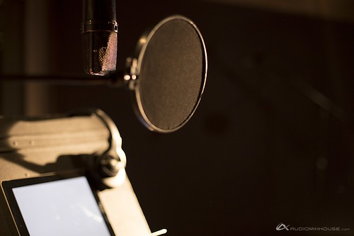 Microphone and stand at Audio Mix House, Studio B | by audiomixhouse