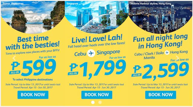 Cebu Pacific Air Promo Best Time with the Besties