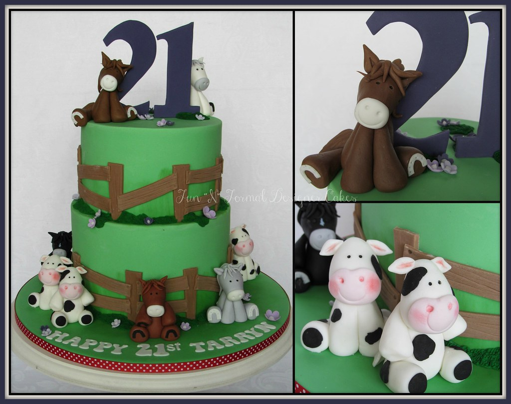 Horse Themed 21st Birthday Cake Melissa Woodward Flickr