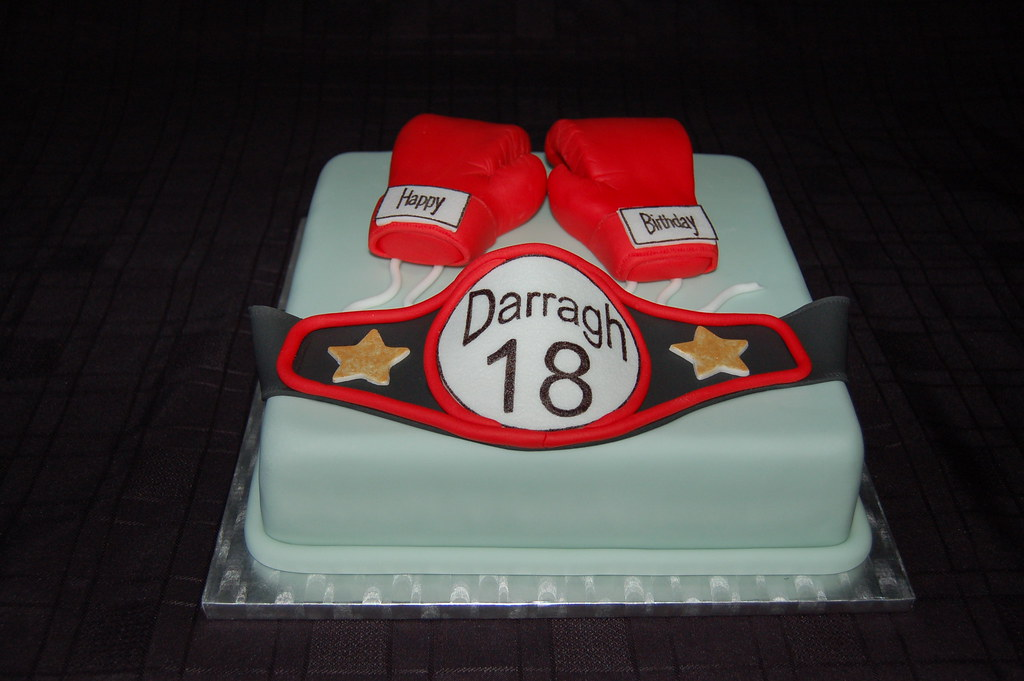 Boxing Glove And Belt Birthday Cake By Cakes Debs