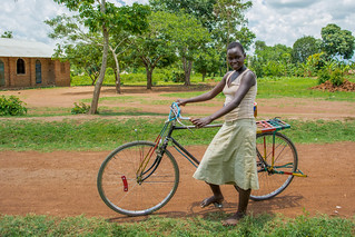 a girl and her bike near Busia | by Tanya R.