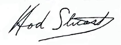 Hod Stuart autograph