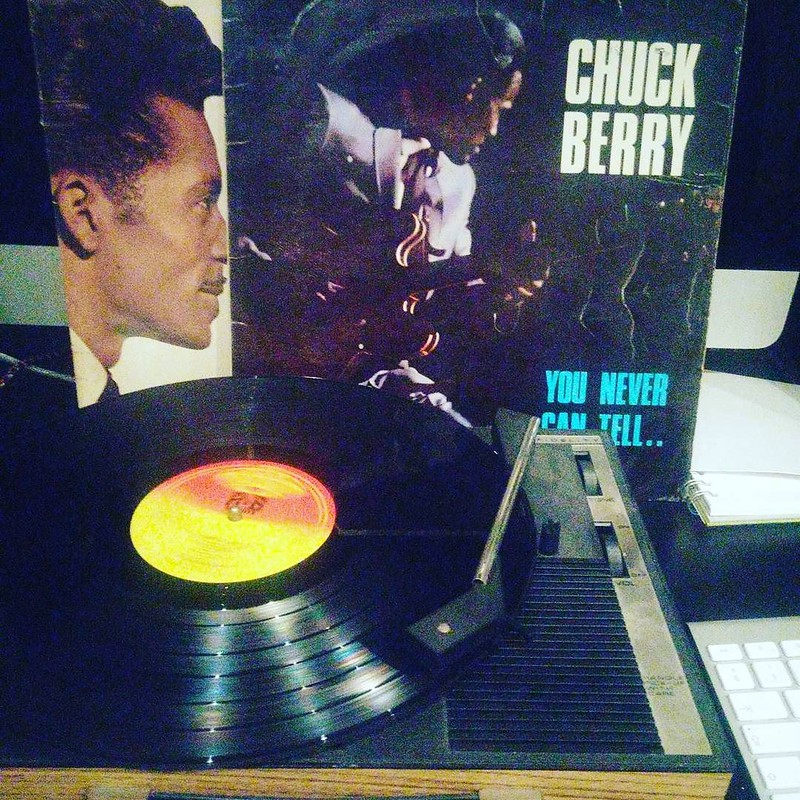 Tell the folks back home this is the promised land calling and the poor boy is on the line #chuckberry #rip