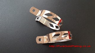 Rose Gold Plated Stainless Steel Scooter Brackets | by PureGoldPlating