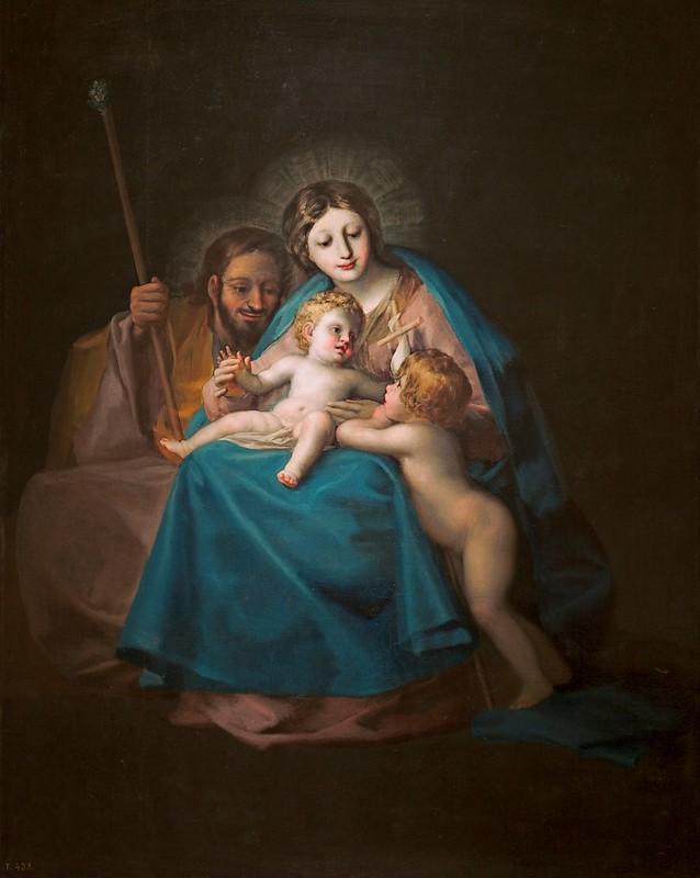 Francisco de Goya - La Sagrada Familia con San Juan Bautista niño (c.1775)