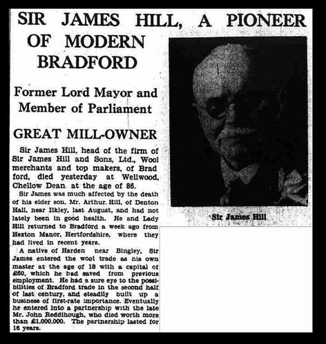 17th January 1936 - Death of Sir James Hill | by Bradford Timeline