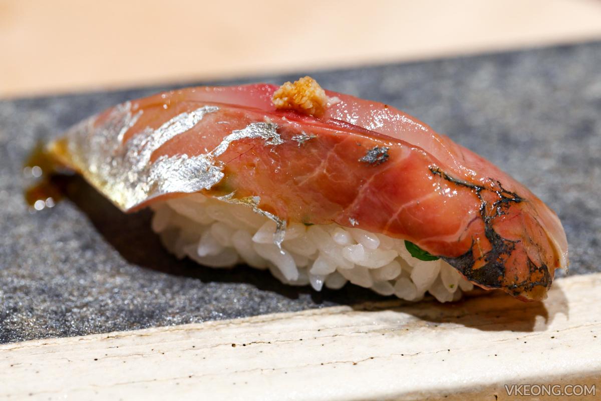 Sushi Azabu Horse Mackerel Nigiri
