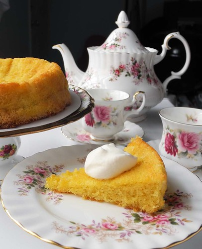 Orange Almond Cake (Gluten-Free) w/ Earl Grey Tea | by yuko2