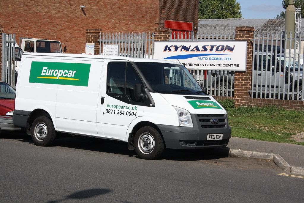 Ky61ydf Europcar Ford Transit Marsh Green Road North E Lazy