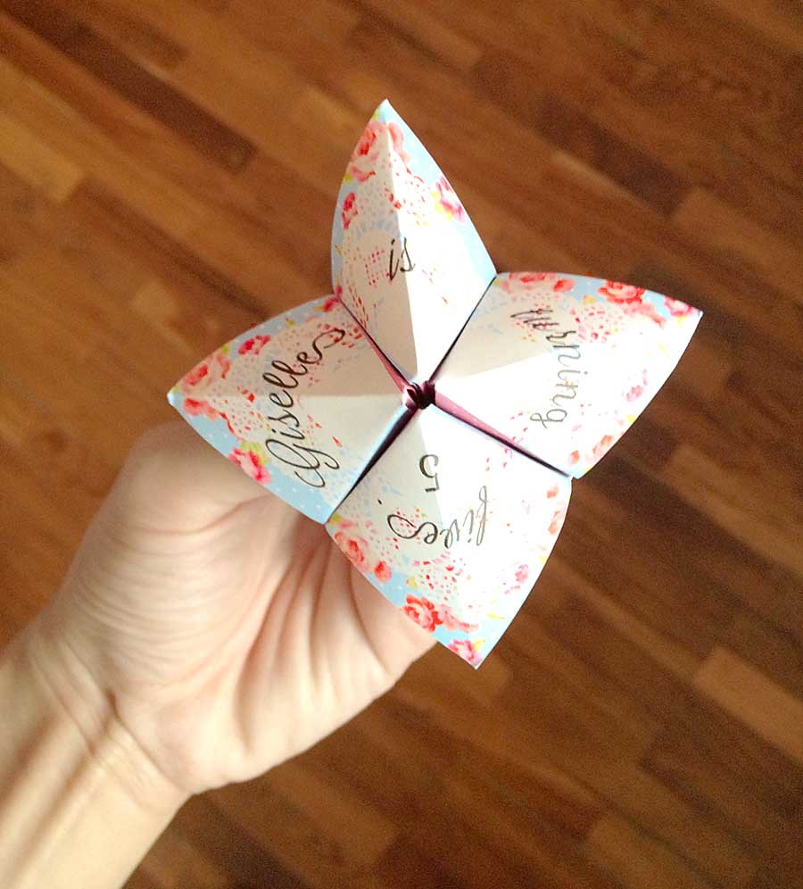 Cootie Catcher Invitation By Babalisme Ning Fathia Flickr