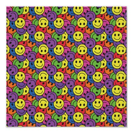 smiley faces retro hippy pattern posters smiley faces retr flickr