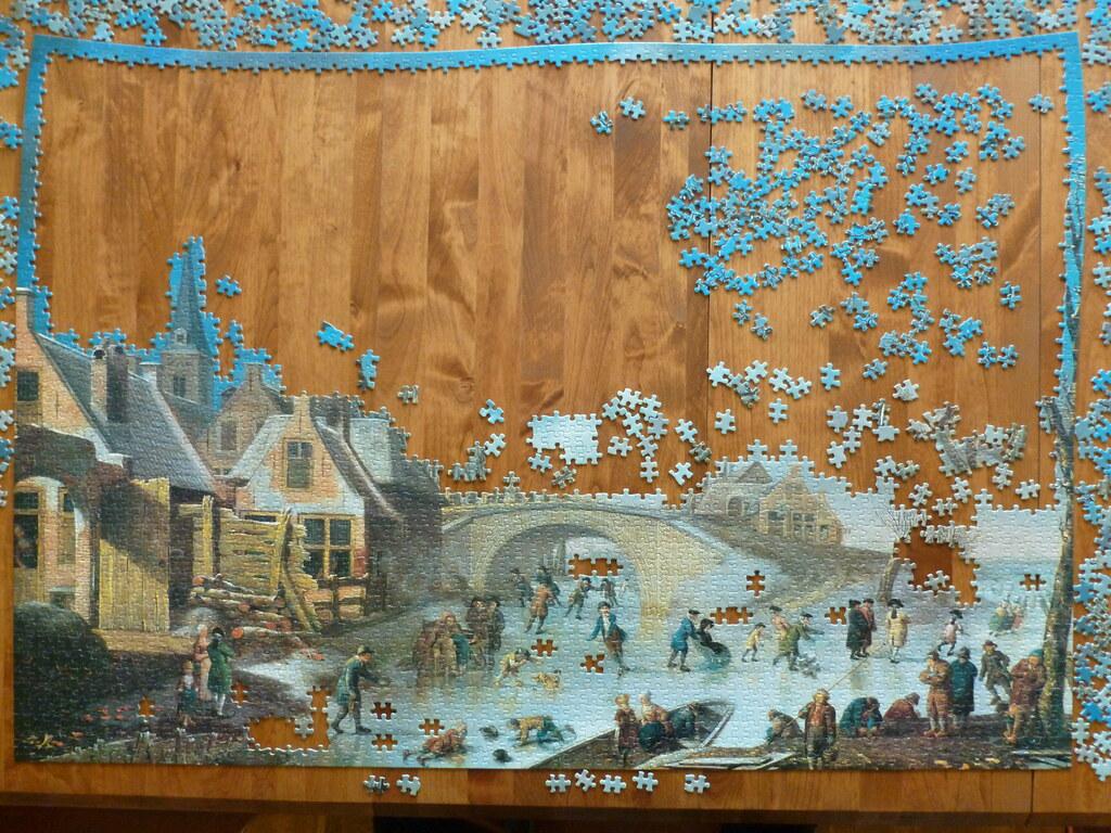 3000 piece puzzle winter amusements by cornelis kuipers flickr