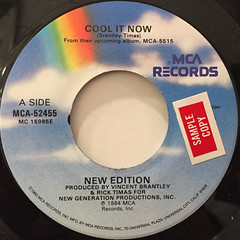 NEW EDITION:COOL IT NOW(LABEL SIDE-A)