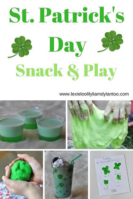 St. Patrick's Day Desserts, Sensory Play & Crafts