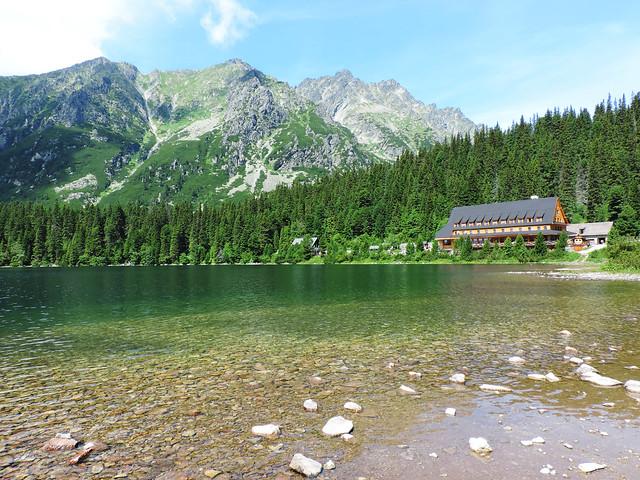 Alpine lakes: Popradské pleso, High Tatras, Slovakia