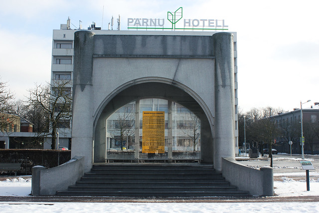 Lugar donde se declaró la independencia de Estonia.