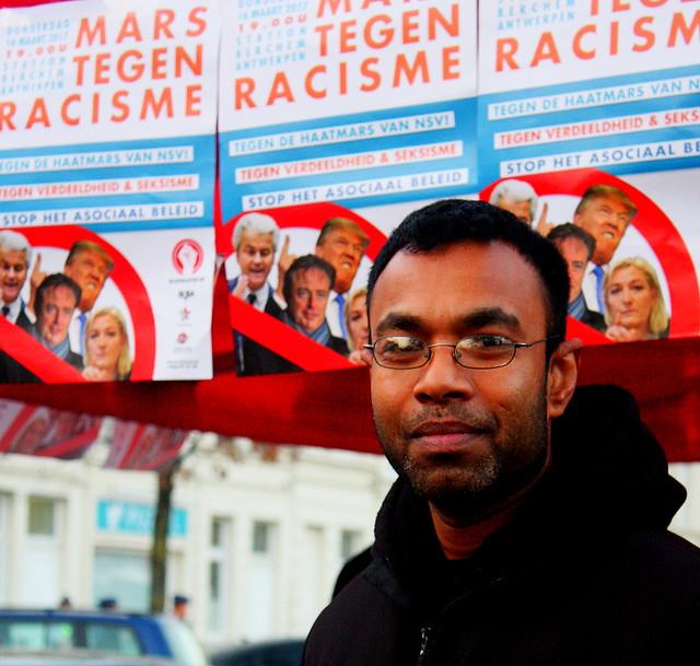 Mars tegen racisme // Foto's door Liesbeth