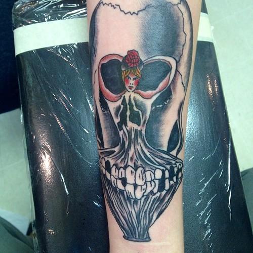 Salvador Dali Tattoo Dali Tattoo: Ballerina Skull Salvador Dali Tattoo By KeelHauled Mike Of