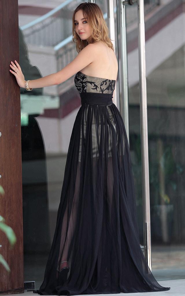 heißer Verkauf Perlen offenen Rücken Gig Mädchen Partyklei… | Flickr