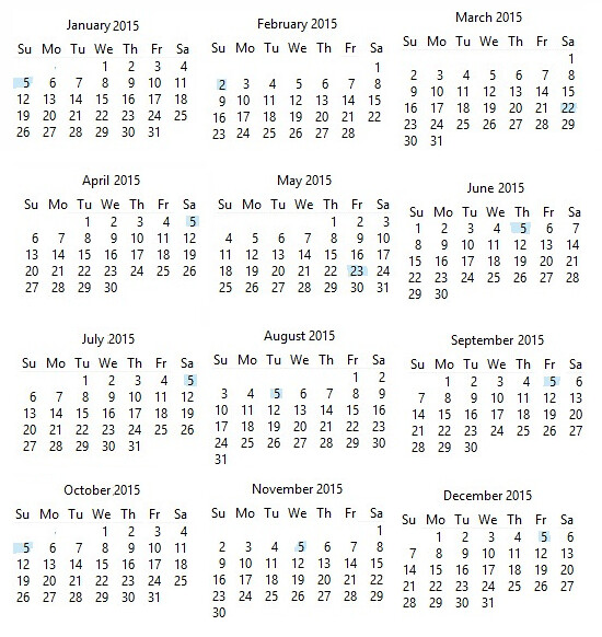calendar 2015 julian calendar by everyone has 200