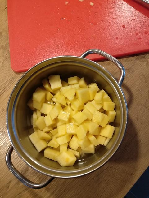 Koolraap in de pan
