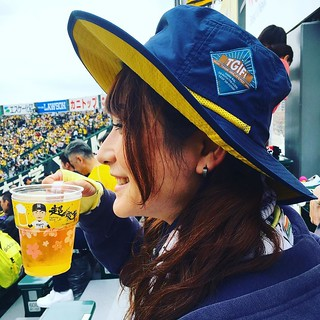 今日は阪神巨人戦@甲子園球場です!お天気が保ちそうでよかった!!