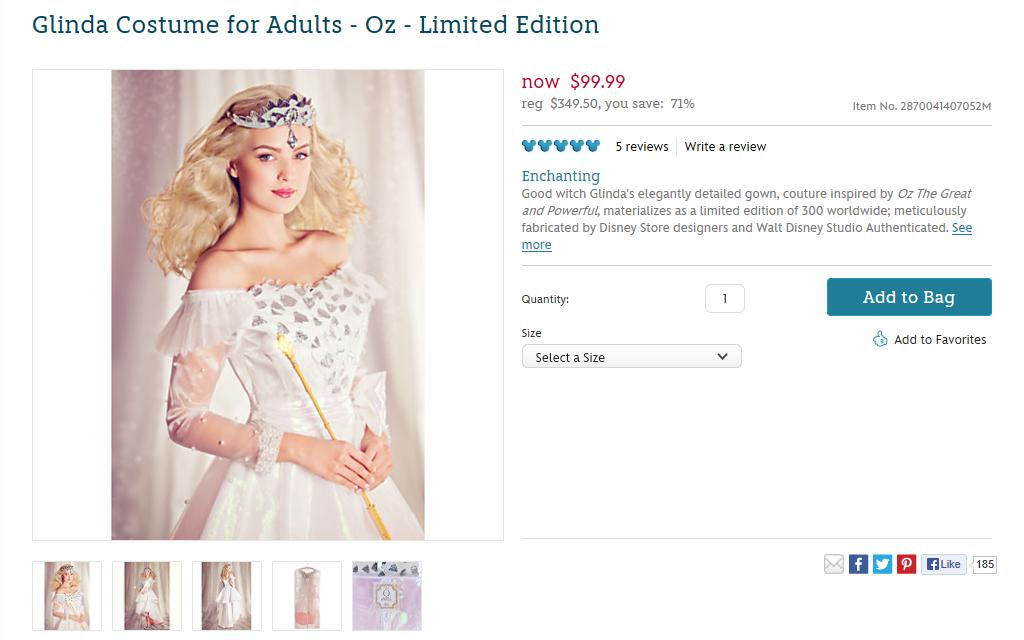 ... Glinda Costume for Adults - Oz - Limited Edition - US Disney Store Product Page -  sc 1 st  Flickr & Glinda Costume for Adults - Oz - Limited Edition - US Disnu2026 | Flickr