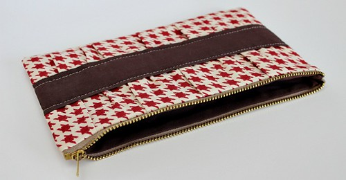 gathered clutch | by Saltwater Quilts
