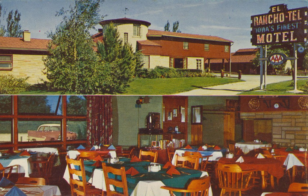 El Rancho Tel Motel and El Rancho Villa Restaurant - Bettendorf, Iowa