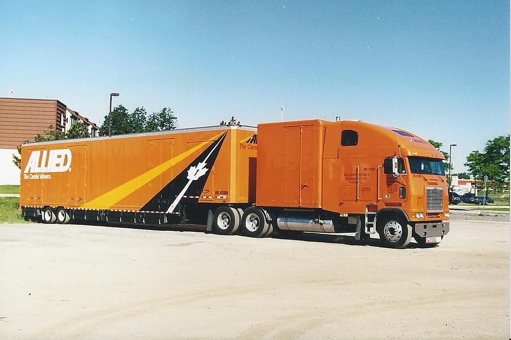Allied Van Lines long frame Freightliner cabover truck wit… | Flickr