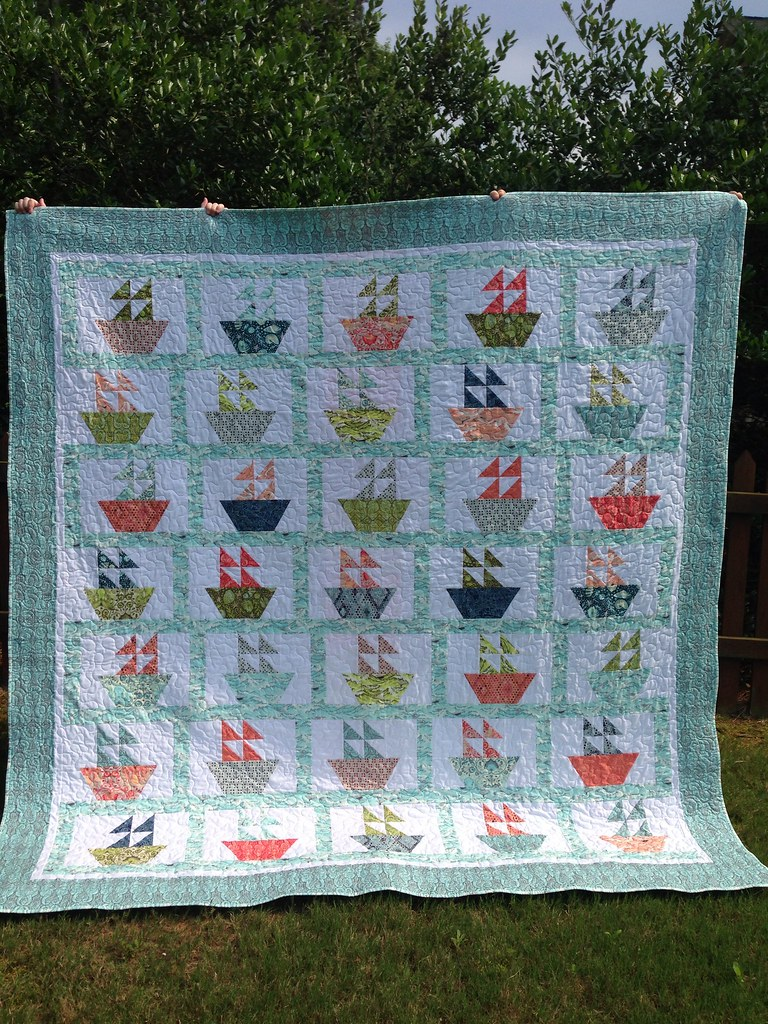 Sailboat quilt for Jenny | Using the Missouri Star Quilt Co … | Flickr : sailboat quilt pattern - Adamdwight.com