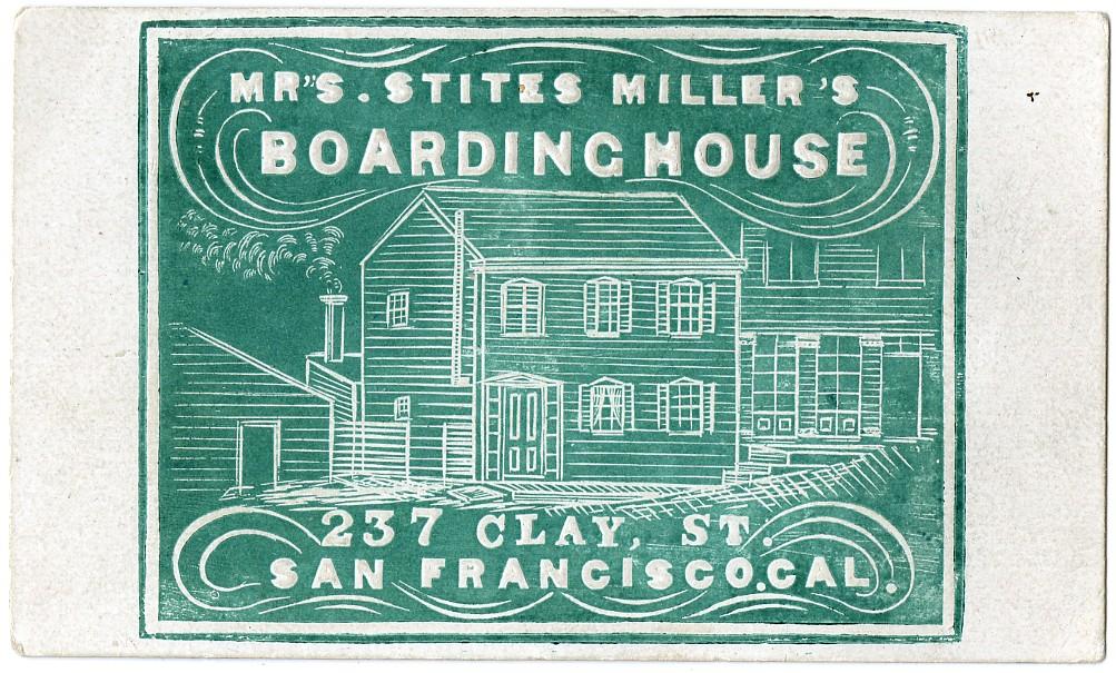 Business card for Mrs. Stites Miller\'s Boarding House, 237… | Flickr