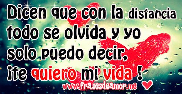 Frases De Amor A Distancia Con Fondos De Corazones Frase Flickr