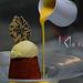 Tortino di Nocciole del Piemonte ,gelato vaniglia e salsa tiepida al moscato